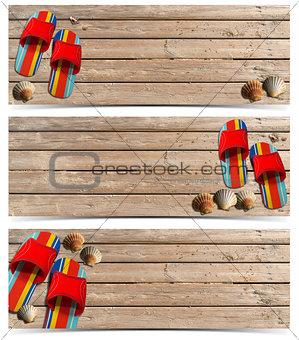 Three Beach Holidays Banners - N5