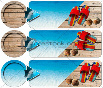 Three Sea Holiday Banners - N4