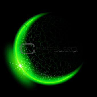 Green crescent.