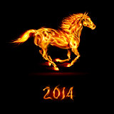 New Year 2014: fire horse.