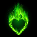 Green fiery heart.
