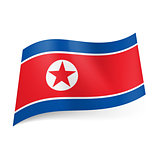 State flag of North Korea.