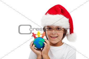 Celebrate christmas around the world concept