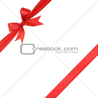 red simple tied ribbon bow composition