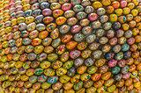Multicolored easter eggs of the Kiev Pechersk Lavra