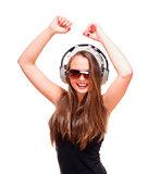 Portrait of a Teenage Girl with Headphones