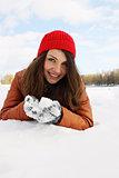 handful of snow