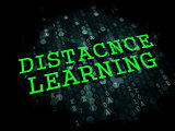 Distance Learning. Business Educational Concept.