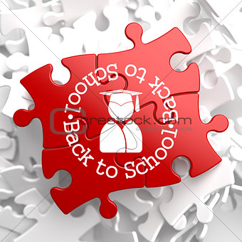 Back to School on Red Puzzle.