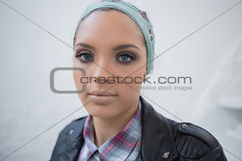 Close up of attractive woman with hairband
