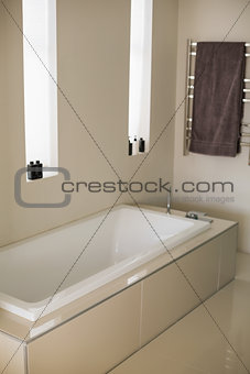 Stylish bathtub in a bathroom