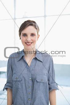 Beautiful businesswoman posing in office