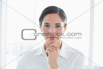 Close up of a confident business woman