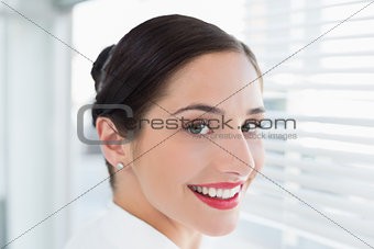 Close up of a smiling business woman