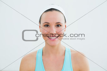 Close up portrait of a smiling young woman