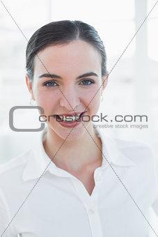 Close up portrait of an elegant businesswoman