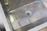 Stainless steel kitchen sink and drain