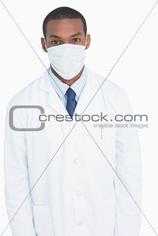 Portrait of a male doctor wearing mask