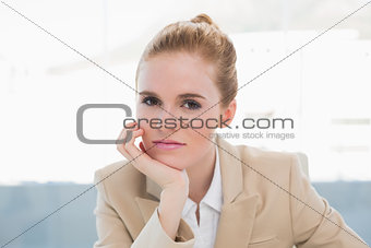 Close up portrait of elegant businesswoman