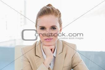 Close up portrait of elegant businesswoman