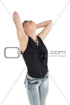 Beautiful casual young woman posing