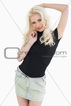 Beautiful casual young blond