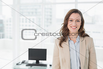 Portrait of an elegant smiling businesswoman in office