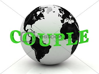 COUPLE abstraction inscription around earth