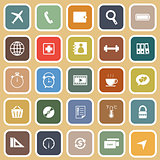 Application flat icons on orange background. Set 2