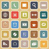 Application flat icons on orange background. Set 2