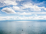 Lake Bodensee with clouds