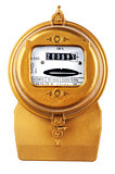 electric meter on white
