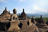 Buddha statue in stupa