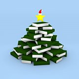 Christmas tree of books