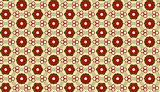 Christmas Flower Background Seamless Pattern