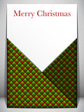 Merry Christmas Card Red and Green Envelope