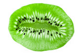 Kiwi on a glass as a texture