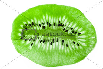 Kiwi on a glass as a texture