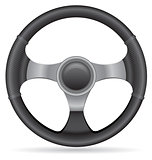 car steering wheel vector illustration