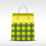 Vector Vintage shopping paper bag in texture.