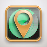 Radar icon map marker for Web and Mobile Application.