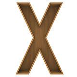 Wooden cabinet-letter