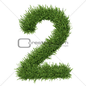 Arabic numeral made ​​of grass