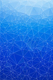 Blue ice abstract background polygon. geometric backdrop