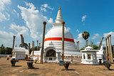 Thuparamaya dagoba in Anuradhapura, Sri Lanka