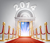 Red Carpet New Year Door 2014