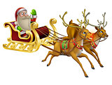 Santa Claus Christmas Sleigh