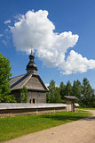 Old wooden rural church near Minsk, Belarus.