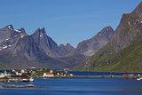 Scenic fjord on Lofoten
