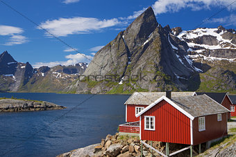 Fishing hut by fjord